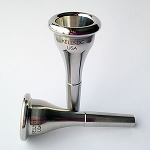 KELLY 316-Surgical-Stainless-Steel Solid 1-piece Model French Horn Mouthpieces